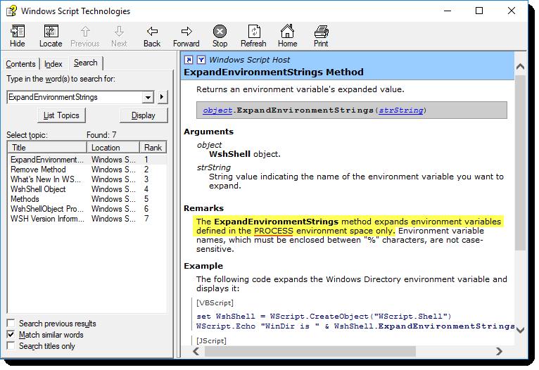 Volatile Environment Variable? - VanDyke Software Forums
