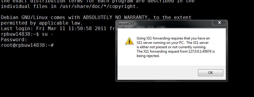 How to disable X11 forwarding warning dialog? - VanDyke